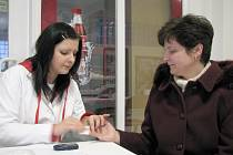 Den diabetiků v kladenské poliklinice.