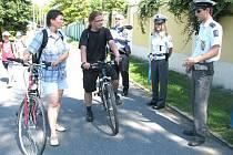 Policisté a strážníci zkontrolovali přes osmdesát cyklistů.