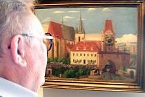 Pražské motivy. Takový je název výstavy obrazů, kterou nyní návštěvníkům nabízí Vlastivědné muzeum ve Slaném.