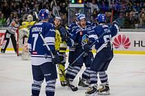 Kladno - Ústí, domácí se radují z prvního gólu Pekra