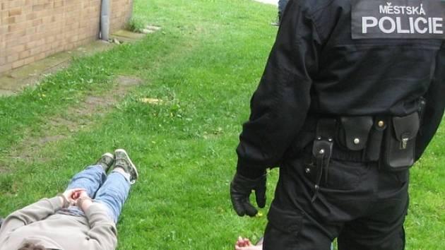 Dva mladé pachatele vloupání v pondělí chytili strážníci Městské policie Kladno.