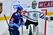 Mladá Boleslav (v bílém) přemohla Kladno 6:3. Jaromír Jágr Krošelje překonal, ale jeho týmu to nepomohlo.