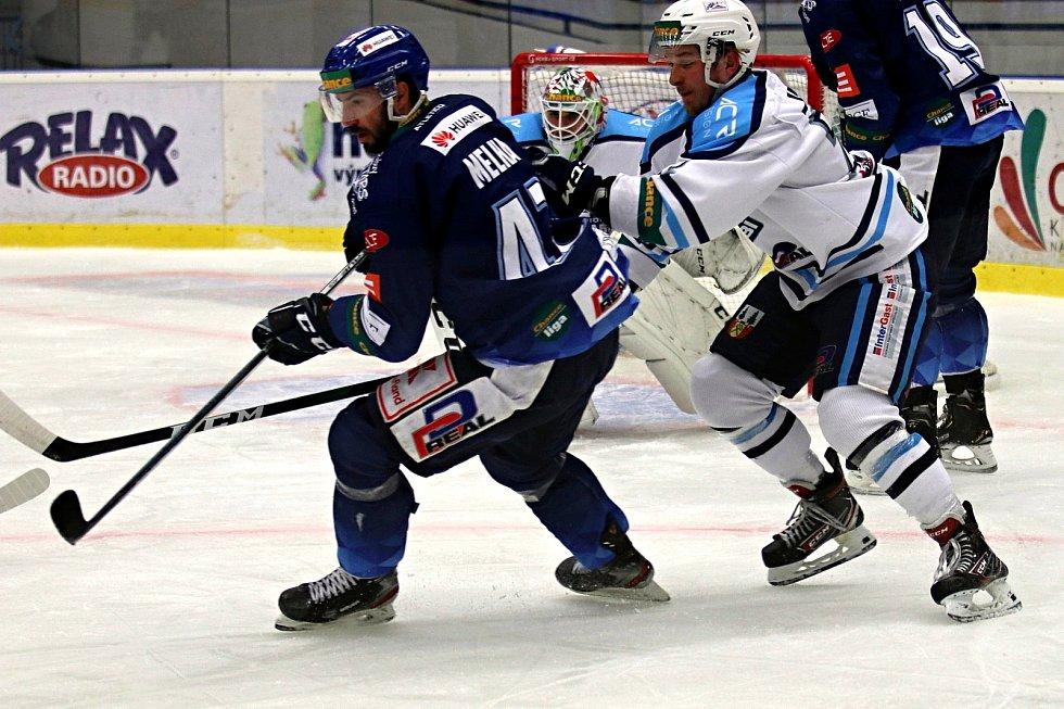 Chance liga: Kladno (v modrém) hostilo v posledním kole základní části - Vrchlabí.