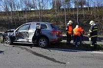Hromadná nehoda na R7 ve čtvrtek 20. března