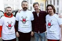 Mezi nimi nechyběli ani Kladeňáci Roman Anděl (zcela vlevo), Michal Kučera (zcela vlevo),  Filip Jícha (druhý zleva) a Jan Bendl.