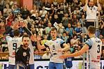 Kladno volejbal cz - Jihostroj České Budějovice 3:2, 5. finále Extraliga volejbalu (stav 2:3), Kladno, 23. 4. 2017