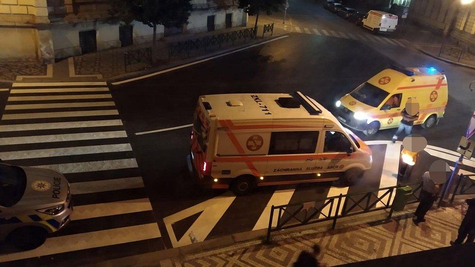 Napadení ve slánské Pastýřské ulici.