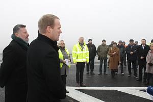 Slavnostní otevření I. dokončené etapy obchvatu Slaného se uskutečnilo 17. prosince 2019.