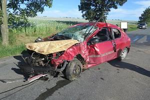 Úterní vážná nehoda u Slatiny.
