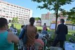 Další setkání vedení Kladna s občany se konalo na rozdělovském náměstí Jana Masaryka.