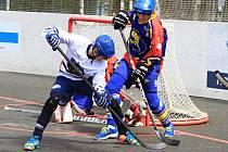 Do čtvrtfinále vstoupil Alpiq skvěle, vede nad Kert Parkem 2:0 na zápasy // Alpiq Kladno - Kert Park Praha 3:1, play off, CCM Extraliga hokejbalu 2014-2015, 26. 4. 2015