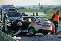 Z vážné dopravní nehody na obchvatu Slaného 5. června 2020.