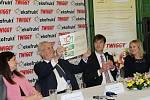 Prezident Miloš Zeman na návštěvě slánského Ekofruktu