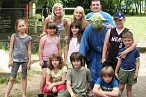Děti na táboře v Mrtníku navštívil také Mistr Yoda, známý ze série Hvězdné války.