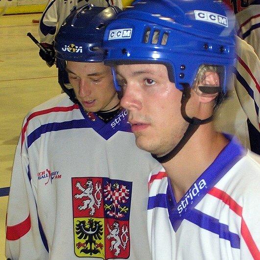 Jan Příhoda (vlevo) by se mohl vrátit i do reprezentačního dresu, národní tým hraje příští rok MS na domácí půdě v Plzni.