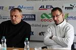 Miloslav Kučera a Martin Čurda - tisková konference // SK Kladno - Králův Dvůr  2:1 (0:1) , utkání 16 k. CFL. ligy 2011/12, hráno 26.11.2011