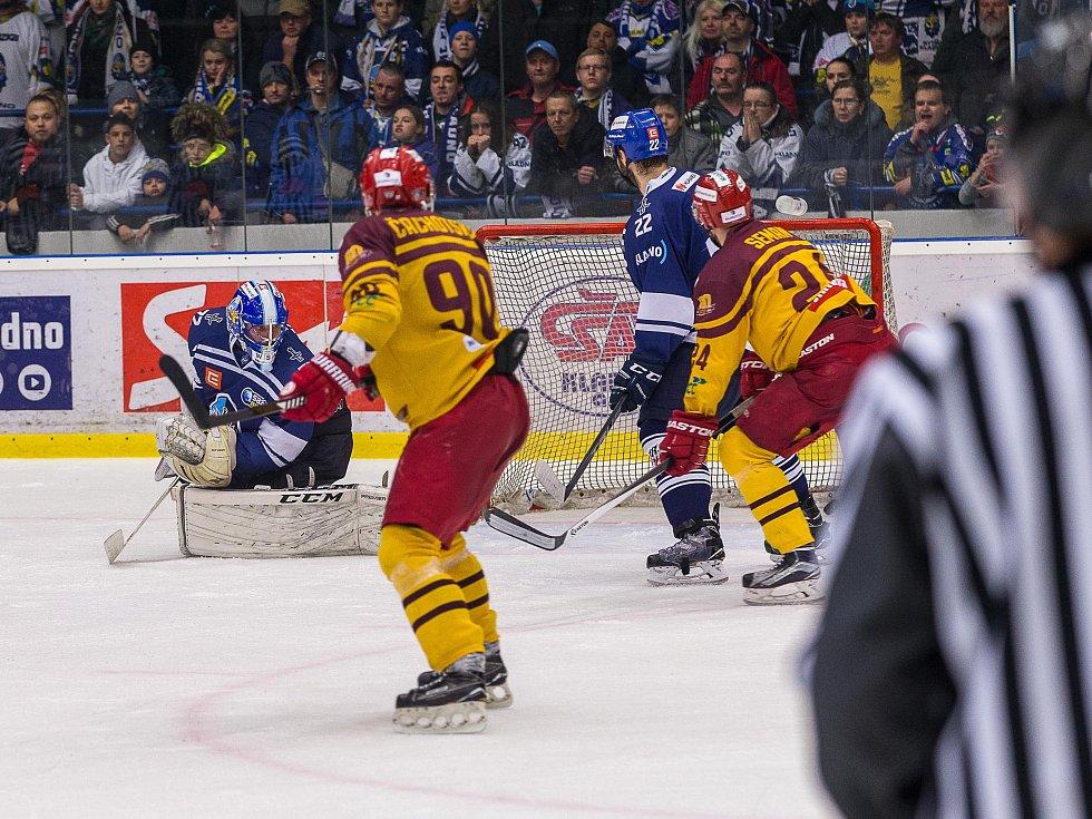 Kladno - Jihlava, čtvrtý zápas play off, hosté vítězí v prodloužení.