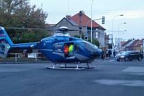 Úterní vážná nehoda autobusu s chodcem v Kladně-Kročehlavech