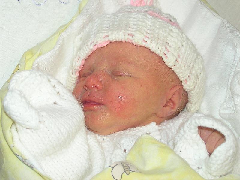 Rebeka Vojcíková, Hospozín, 12.1.2010, váha 2,6 kg, míra 45 cm, rodiče jsou Ivana a Petr Vojcíkovi, porodnice Slaný