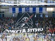 Kladno - Jihlava, třetí zápas play off, fanoušci a jejich další dobrý pouták