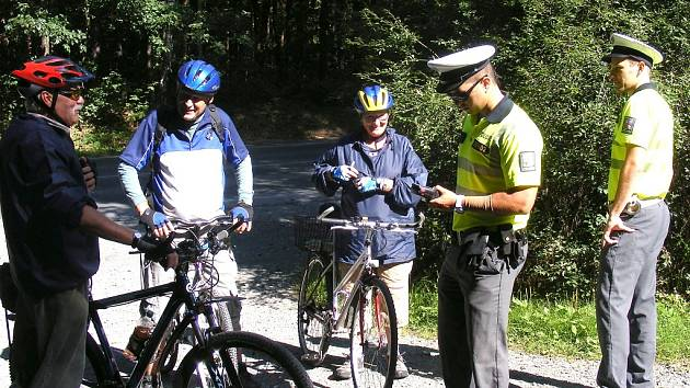 Dopravně bezpečnostní akce - cyklisté