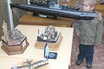 Největší model výstavy představovala americká ponorka, jejíž velikost byla v poměru 1:72.