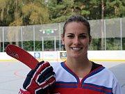 Slavnostní otevření zrekonstruované hokejbalové arény Kladno. Lucie Manhartová