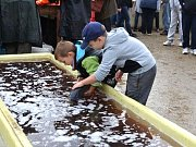 Tradiční výlov luníkovského rybníka U Jelena přilákal opět stovky lidí.
