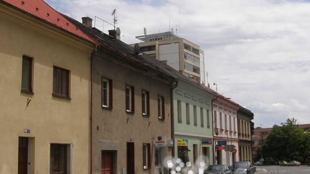 Pohled do Žižkovy ulice ve Slaném