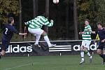 Hlavičkuje Zdeněk Podraný // SK Lhota - SK Doksy 2:1 (2:0), utkání I.A. tř., 2010/11, hráno 10.10.2010
