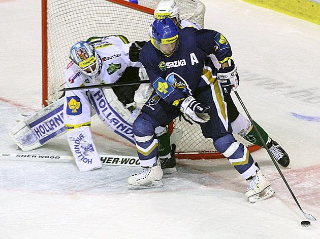 Rytíři Kladno - HC Karlovy Vary 30. kolo ELH 2011-12, hráné 9.12.11. Kalla byl po zásluze vyhlášen nejlepším hráčem