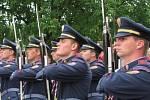 Pietní akt v Lidicích 14. června 2014.