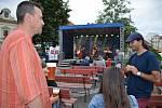 Festival Music on the Square: z koncertu kapel Bikini a Madam Royal na Masarykově náměstí ve Slaném.