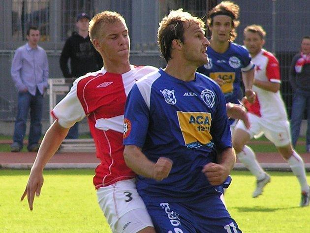 Jaromír Šilhan (vpravo) na podzim góly dával. Přidá na jaře další?