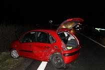 Páteční večerní nehoda na silnici ze Slaného do Tuřan