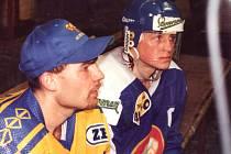 Kladno - Zlín, semifinále play off 1995. Vůdci obou týmů - Josef Štraub a Pavel Patera.