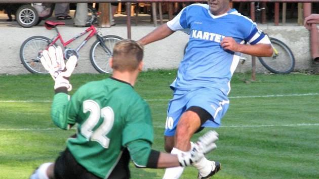 Kapitán Martin Veselý zápas rozhodl přesnou hlavičkou.