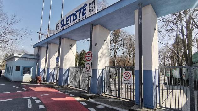 Sportoviště v Kladně.