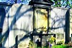 Slaný. Hrob rodiny Štechovy. V. Štech dramatik a spisovat. V. V. Štech významný kunsthistorik
