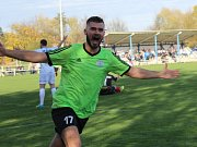 Velvary - Kladno 2:0, Dominik  Vašut slaví první gól