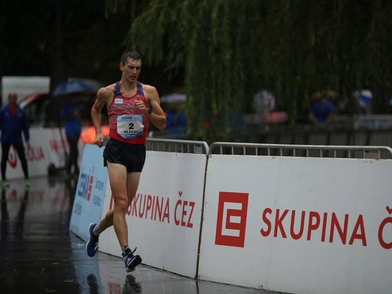 Vít Hlaváč při mistrovství republiky na 20 kilometrů v Poděbradech.