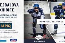 Hokejbal vers. hokej, exhibice v Kladně