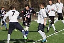 SK Kladno (v černém) přehrál Čížovou jasně 3:0.