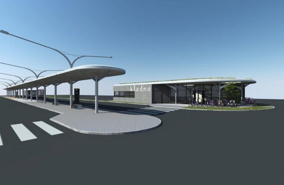 Vizualizace autobusového nádraží v Kladně z dubna 2020 za bývalého primátora Dana Jiránka. Jaká bude konečná podoba, je otázkou.