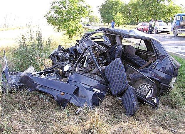 Nehoda ve Zlonicích.