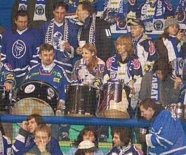 Fanoušci hokejistů Kladna.