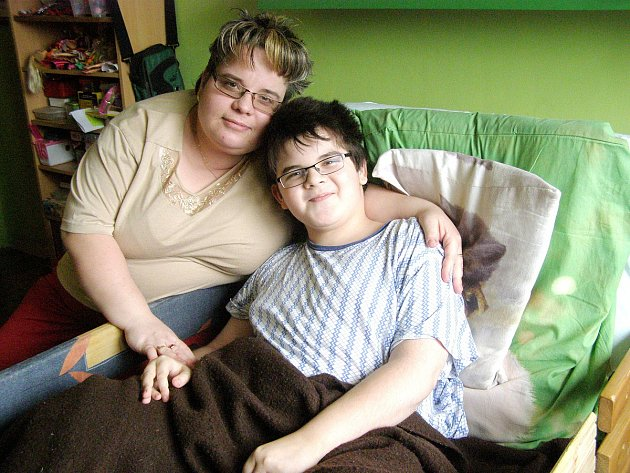 Pavlík se svou maminkou Petrou.