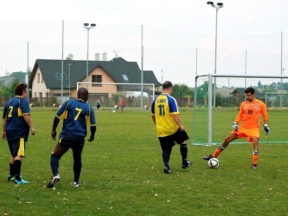 Den sportu a zábavy na fotbalovém hřišti v Unhošti.