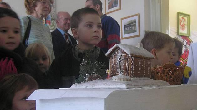 Návštěvníci výstavy Medové Vánoce.