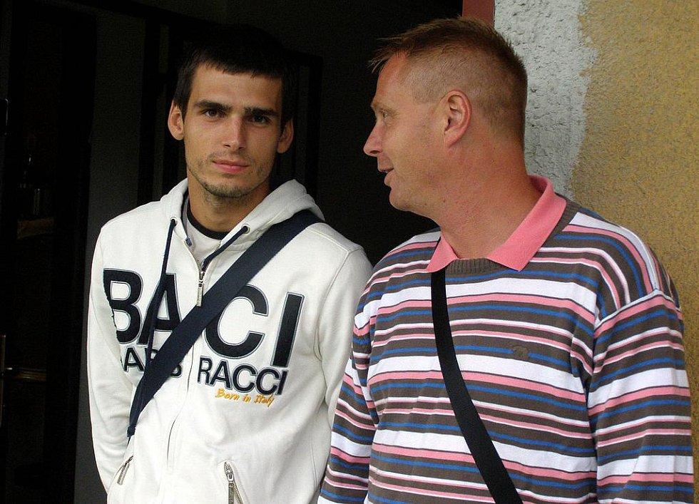 SK Kladno: vzpomínky na ligu. Jiří Jeslínek a Stanislav Hejkal.